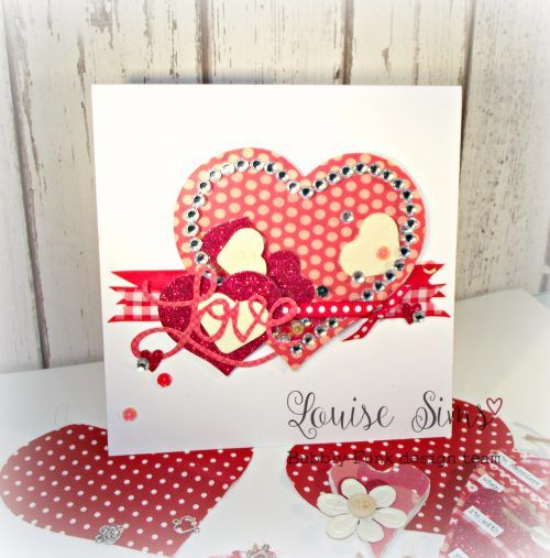 January Through the Letter Box kit 'Love is...' Designed by Lou Sims